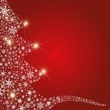 Sumário dos flocos de neve da árvore de Natal ilustração stock