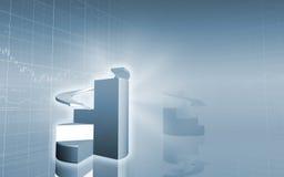 sumário dos gráfico de sectores circulares 3D Fotografia de Stock Royalty Free