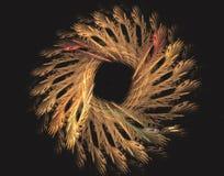 Sumário e círculo do trigo ilustração stock