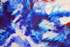 Sumário e pintura acrílica colorida com detalhes da textura ilustração do vetor