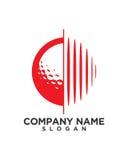 Sumário financeiro do seguro comercial da bola de golfe Imagem de Stock Royalty Free