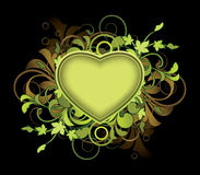 Sumário floral com coração Imagem de Stock