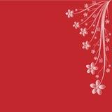 Sumário floral no espaço vermelho da cópia Imagem de Stock Royalty Free