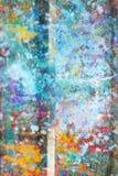 Sumário, fundo de madeira colorido pintado à mão imagens de stock royalty free