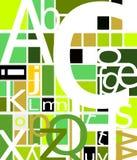 Sumário geométrico amarelo verde alfabético ilustração royalty free