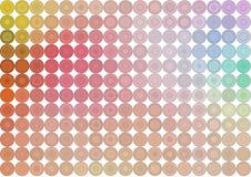 Sumário geométrico moderno do teste padrão do fundo dos círculos, das bolhas, da esfera ou das elipses Textura, contexto, mosaico ilustração stock