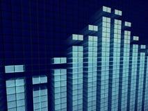 Sumário gráfico do equalizador Fotos de Stock