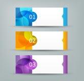 Sumário horizontal das bandeiras infographic Fotos de Stock