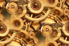 Sumário interno dos funcionamentos do relógio antigo Imagens de Stock Royalty Free