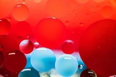 Sumário macro da arte da água e do óleo Imagem de Stock