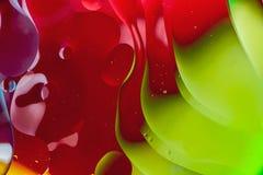 Sumário macro da arte da água e do óleo imagens de stock royalty free