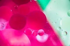 Sumário macro da arte da água e do óleo Fotos de Stock Royalty Free