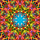 Sumário Mandala Background floral colorida da pintura de Digitas ilustração stock
