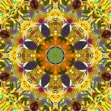 Sumário Mandala Background floral colorida da pintura de Digitas ilustração do vetor