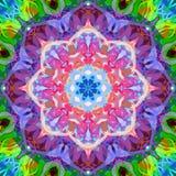 Sumário Mandala Background floral colorida da pintura de Digitas ilustração stock