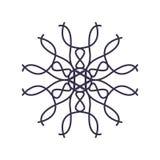 Sumário Mandala Geometry Outline para a decoração ou a tatuagem ilustração do vetor