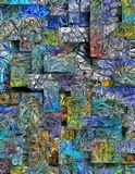 Sumário mergulhado dimensional das cores ilustração stock