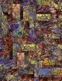 Sumário mergulhado dimensional de cores de roda ilustração stock