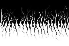 Sumário monocromático Árvores escuras e suas raizes Assustador liquefaça o efeito ilustração royalty free