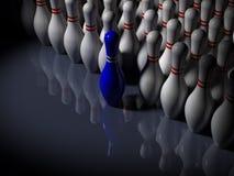 Sumário - pinos de bowling - o Frontrunner Foto de Stock