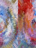 Sumário Pintura retrato Textura textured uniqueness Imagens de Stock