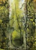 Sumário Pintura retrato Textura textured uniqueness Foto de Stock Royalty Free