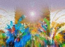 Sumário Pintura retrato Textura textured uniqueness Foto de Stock