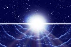 Sumário/por do sol ilustração do vetor