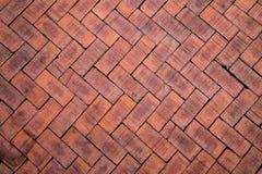 Sumário próximo acima de um tijolo vermelho de teste padrão de ziguezague (o tijolo no fl Fotografia de Stock