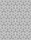 Sumário preto e branco teste padrão sem emenda geométrico textured ilustração stock