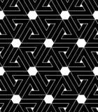 Sumário preto e branco teste padrão sem emenda geométrico textured VE ilustração royalty free