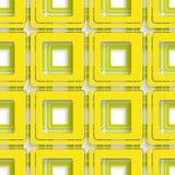 Sumário quadrado amarelo e verde Imagens de Stock