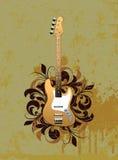 Sumário retro com guitarra elétrica ilustração stock