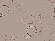 Sumário sem emenda em marrom e branco bege o amor da palavra Foto de Stock Royalty Free
