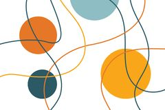 Sumário, teste padrão do fundo feito com linhas curvy, coloridas ilustração stock