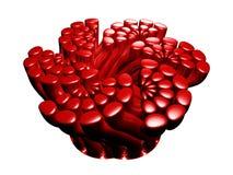 Sumário vermelho brilhante da câmara de ar ilustração stock