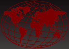 Sumário vermelho da terra ilustração do vetor
