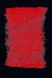 Sumário vermelho no preto Foto de Stock Royalty Free