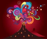 Sumário vulcânico colorido Imagem de Stock Royalty Free