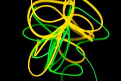 Sum?rio de n?on de n?on e verde amarelo imagens de stock royalty free