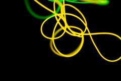 Sum?rio de n?on de n?on e verde amarelo Linhas de n?on fotos de stock