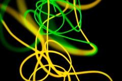 Sum?rio de n?on de n?on e verde amarelo Linhas de n?on imagem de stock royalty free
