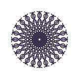 Sum?rio Mandala Geometry Outline para a decora??o ou a tatuagem ilustração do vetor