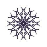 Sum?rio Mandala Geometry Outline para a decora??o ou a tatuagem ilustração royalty free