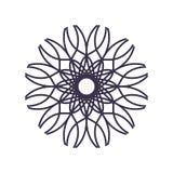 Sum?rio Mandala Geometry Outline para a decora??o ou a tatuagem ilustração stock