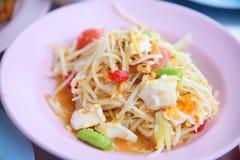 Sum-Tam, Papaya spicy salad Royalty Free Stock Photography