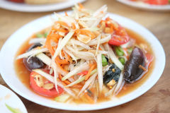 `Sum Tum` The favourite food. Of Thailand Royalty Free Stock Photo
