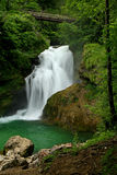 Sum Waterfall. At the end of Vintgar Gorge Royalty Free Stock Image