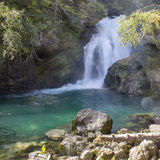 Sum waterfall in the Vintgar Canyon, Slovenia, Europe Stock Image