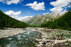 Sumak river - sayan mountains Stock Photography